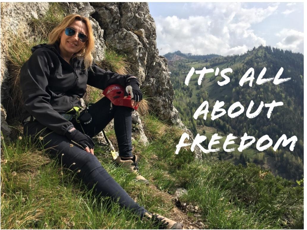 Irina Păcurariu despre viață de familie pe munte urcand
